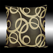 ABSTRACT ELEGANT GOLD BRONZE DECORATIVE THROW PILLOW CASE CUSHION COVER 17""