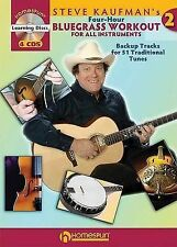 Steve Kaufman'S Four-Hour Bluegrass Workout 2 (Book And 4 Cds) Gtr Boo (Book & C