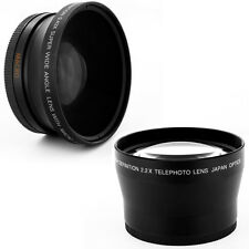 67mm 0.43x WIDE ANGLE,2X TELE LENS for Nikon D80 D90 D5000 D7000 18-105mm camera