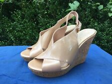 JESSICA SIMPSON Wedges Slingbacks Platforms High Heels Peep Toe Womens Sz 8