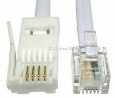 15m RJ11 to BT Modem Cable Lead Telephone Phone Plug BT Socket 4 Pin STRAIGHT