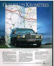 Publicité Advertising 1982 Mercedes 240 D
