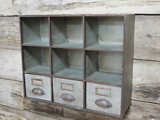 Industrial Furniture Pigeon Hole + 3 Drawers Storage Cabinet Shelving Wall Unit