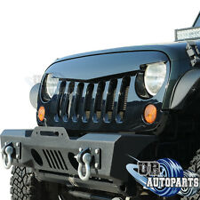 Angry Bird Front Glossy Black Grille For Rubicon Sahara 07-16 Jeep Wrangler JK