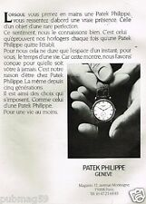 Publicité advertising 1991 La Montre Patek Philippe