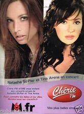 Publicité advertising 2006 Radio Chérie FM avec Natasha St Pier et Tina Arena