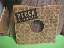 VINTAGE DECCA RECORDS COMPANY FACTORY PAPER SLEEVE ONLY NO RECORD 10 INCH.78 RPM