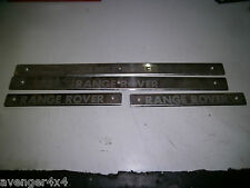 LAND ROVER RANGE ROVER P38 SET OF 4 ORIGINAL CHROME DOOR KICK TRIMS SILL PLATES