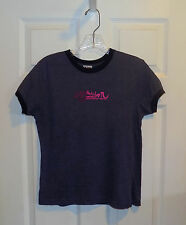 WOMENS JUNIORS MISSES NAVY BLUE MERLE ROXY BOARDRIDING CO GRAPHIC T-SHIRT NEW M