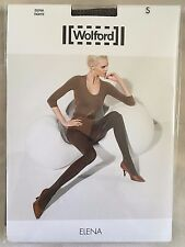 Wolford Womens Elena Tights Bison Black Size Small Style 14431