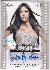 2011 POP CENTURY PREVIEW AUTO:KOURTNEY KARDASHIAN #2/25 AUTOGRAPH KIM'S SISTER