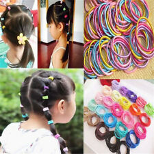 Fashion Girls 100Pcs Colorful Elastic Hair Bands Ponytail Holder Head Rope Ties