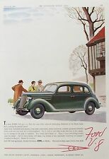 OLD VINTAGE ADVERT CLASSIC MOTOR CAR FORD V8  c1936 TOURING SALOON
