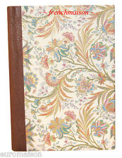Italian Floral/Gold ITALY-MADE Handcrafted LEATHER Spine NOTEBOOK Journal LARGE