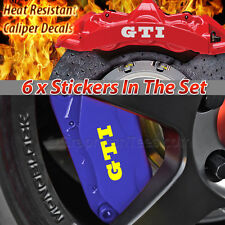 GTI Brake Caliper Stickers, Golf, Lupo, Polo Wheel Decal Graphics - X6
