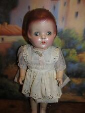 "Precious 1930s 15"" Composition and Cloth Doll Stunning Face, needs restoration"