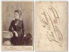 CABINET CARD Photograph Victorian Lady by Hawke of Plymouth