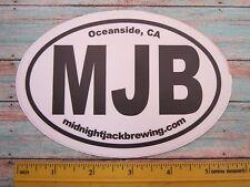 BEER Collectible STICKER ~*~ MIDNIGHT JACK Brewing ~*~ Oceanside, CALIFORNIA