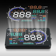A8 5.5'' Car HUD Head Up Display OBD II 2 Speed Warning System Fuel Consumption