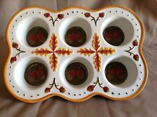 Temp-tations Presentable Oven Ware Muffin Pan Cup Cakes Fall Harvest (Acorns)
