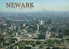 Aerial View of Newark, New Jersey, New York City and Twin Towers --- Postcard