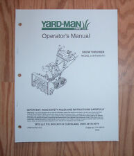 YARD-MAN 31AH7S3G70 SNOW THROWER OPREATORS MANUAL WITH ILLUSTRATED PARTS LIST