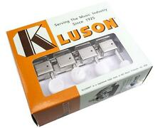 Kluson Supreme F-Style Mandolin Tuners, Nickel with Pearloid Buttons KMTFN18-PR