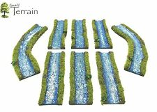 Wargames Terrain PAINTED Resin Streams/Rivers  Flames of War Bolt Action  WH40k