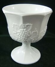 Vintage WHITE GLASS Compote