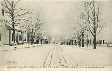 New Hampshire, NH, Canaan, Winter Morning Main Street Early Albertype Postcard