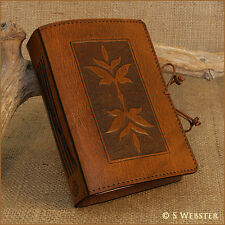 ART NOUVEAU LEAF DESIGN LEATHER JOURNAL, NOTEBOOK.