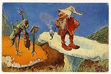 Dressed Animals GRASSHOPPER VIOLIN DWARF HEUSCHRECKE ZWERG * Künstler-AK um 1900