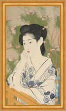 Woman at a Hot Spring Hotel Goyo Hashiguchi Frauen Mode Kimono China B A3 02141