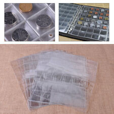 10x Album Case 30 Pocket Classic Coin Collection Storage Page Penny Holder Money