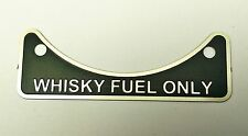 Land Rover 90 110 Series 2 3 88 109 WHISKY FUEL LABEL BADGE