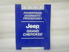 2002 POWERTRAIN DIAGNOSTIC PROCEDURES JEEP GRAND CHEROKEE 81-370-02047