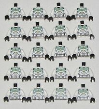 Lego Lot of 20 NEW STAR WARS MINIFIGURE TORSOS CLONE TROOPER SAND GREEN MARKINGS