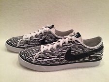 Nike Primo Court Print Canvas Trainers Grey & White Sneakers Shoes Mens 12 *NEW