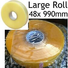 990m gran Rollo 48mm máquina Cinta sellotape cellotape Empaque Embalaje Adhesiva