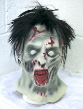 Bloody Undead Full Head & neck Latex Zombie Mask Deluxe Fancy Dress Halloween