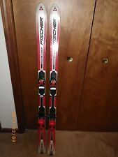 Pair of Fischer RC4 Super Carve Youth Kids Downhill Jr SKIS w/ Bindings 138 cm