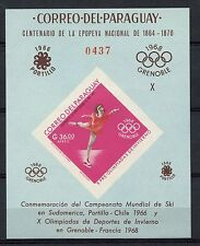 Paraguay 1968 Winter Olympic Games MNH Imperf M/S #A40820