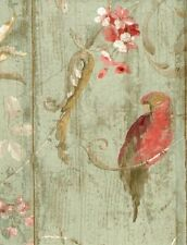 York Wallcovering Victorian Bird Floral Wallpaper HA1326 Parrots DOUBLE roll
