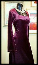CURVY VELVET vtg 80s 90s ANGEL SLV GYPSY Goth boho REN maxi dress Morbid Threads