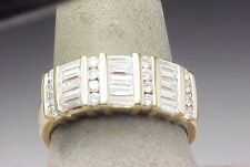 1.50 ct Diamond Baguette Marriage Band Estate Ring 14k Gold
