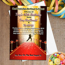 10 Personalised James Bond Red Carpet Birthday Party Invitations Invites N38