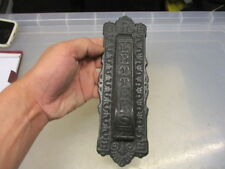 "Vintage Cast Iron Letter Box Door Knocker Architectural Antique Old ""LETTERS"""
