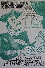 """""""MITTERRAND : ENCORE UNE PREDICTION DE NOSTRADAMUS"""" Affiche orig. entoilée CABU"""