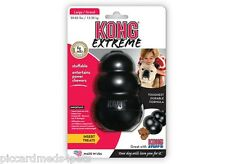 Kong Extreme Black Large Rubber Dog Chew Toy Tough insert treatspower chewers