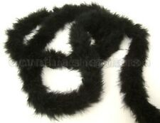 "15g MidNite BlacK marabou feather boa boas 2""W 72""L for sewing and crafting"
